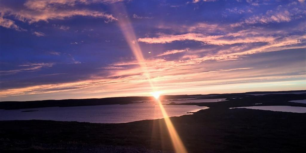 Sunset on the barrenlands at Daring Lake, NWT  (Photo: Jody Zoe)