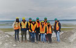 Some of the Board and staff of the WLWB at Diavik Diamond Mines in 2018.  Photo Credit: Sean Sinclair (Diavik - Rio Tinto).
