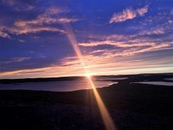 Sunset on the barrenlands at Daring Lake, NWT  (Photo: Jody Zoe)